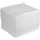 """15"""" x 18"""" Heavy-Weight Oil Absorbent Pads, Sonic Bonded, White (100 pads/bag)"""