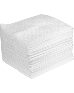 """15"""" x 18"""" Heavy-Weight Oil Absorbent Pads, SteelSorb™, White (100 pads/bag)"""