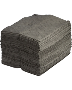 """15"""" x 18"""" Heavy-Weight, Univ. Absorbent Pads, Sonic Bonded, Gray (100 pads/bag)"""