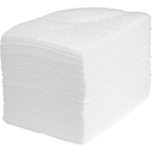 """15"""" x 18"""" Heavy-Weight Oil Absorbent Pads, Laminate, White (100 pads/bag)"""