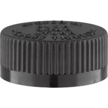 33mm 33-400 Black Child Resistant Cap (PDT) w/Foam Liner (3-ply)