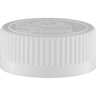 33mm 33-400 White Child Resistant Cap (Pictorial) w/HIS Liner for PE (Top)