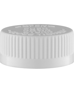 33mm 33-400 White Child Resistant Cap (PDT) w/F217 & PS22 Liner (Top)