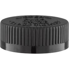38mm 38-400 Black Child Resistant Cap (PDT) w/HIS Liner for PE (Top)