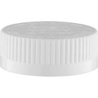 """38mm 38-400 White Child Resistant Cap (PDT) w/HIS Liner for HDPE, 1-Piece, Tamper Indicating (.020"""" Pulp)"""