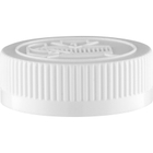 45mm 45-400 White Child Resistant Cap (Pictorial) w/Foam Liner (3-ply)