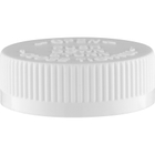 45mm 45-400 White Child Resistant Cap (PDT) w/Foam Liner (3-ply)