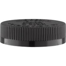 53mm 53-400 Black Child Resistant Cap (PDT) w/Foam Liner (3-ply)