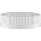 53mm 53-400 White Child Resistant Cap (Pictorial) w/HIS Liner for PE (Top)