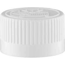 20mm 20-400 White Child Resistant Cap (Pictorial) w/Foam Liner (3-ply)