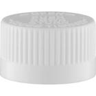 20mm 20-400 White Child Resistant Cap (PDT) w/HIS Liner for PET/PVC (Top)
