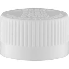 20mm 20-400 White Child Resistant Cap (PDT) w/Foam Liner (3-ply)