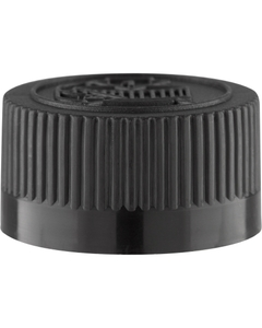 22mm 22-400 Black Child Resistant Cap (Pictorial) w/Foam Liner (3-ply)