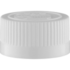 22mm 22-400 White Child Resistant Cap (Pictorial) w/HIS Liner for PE (Top)