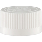 24mm 24-400 White Child Resistant Cap (Pictorial) w/Foam Liner (3-ply)