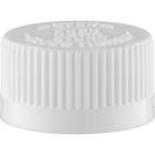 24mm 24-400 White Child Resistant Cap (PDT) w/HIS Liner for PET/PVC (Top)