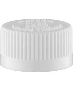 24mm 24-400 White Child Resistant Cap (PDT) w/Foam Liner (3-ply)