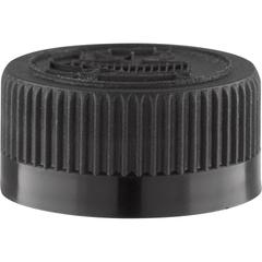 28mm 28-400 Black Child Resistant Cap (Pictorial) w/Foam Liner (3-ply)