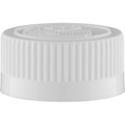 28mm 28-400 White Child Resistant Cap (Pictorial) w/HIS Liner for PE (Top)