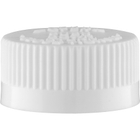 28mm 28-400 White Child Resistant Cap (PDT) w/HIS Liner for PET/PVC (Top)