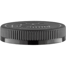 70mm 70-400 Black Child Resistant Cap (Pictorial) w/Foam Liner (3-ply)