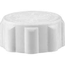 28mm 28-400 EZ-Safe® White Child Resistant Cap w/Foam Liner (3-ply)