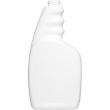 32 oz. White HDPE Plastic Trigger Spray Bottle, 28mm 28-400