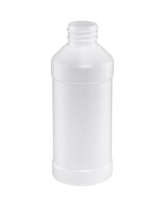 8 oz. Natural Modern Round HDPE Bottle, 28mm 28-410