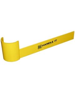 "48"" Yellow Medium-Duty Left Hand End Aisle Rack Guard"