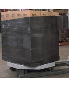 "80 Gauge - 20"" x 5000' Black Blown Stretch Wrap Film (Machine Roll)"
