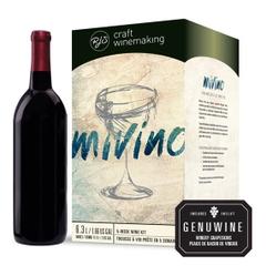 Mivino Chilean Merlot Wine Recipe Kit w/Grapes Skins (2-Pack), 3 Gallon Kits