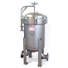 """4-Bag Size #2 (30"""" Basket Depth) 304 Stainless Steel Multi-Bag Filter Vessel, 4"""" Flange"""