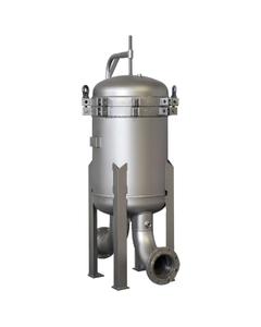 """6-Bag Size #2 (30"""" Basket Depth) 304 Stainless Steel Multi-Bag Filter Vessel"""