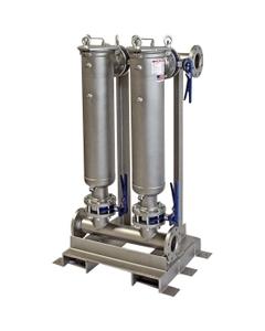"""Multi-Plex (2) Filter Vessel, Carbon Steel, 3"""" Flange, Size #2 (30"""" Basket Depth)"""