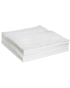 "30"" x 38"" Heavy-Weight Oil Absorbent Pads, Melt Blown, White (50 pads/bag)"