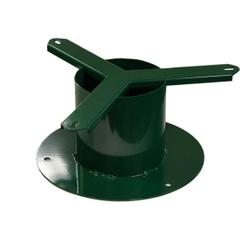 "Green Metal Receptacle 6"" Pedestal for Trash Receptacles"