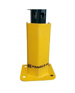 """18""""H x 8-1/2""""ID Yellow Pallet Rack Upright Post Protector"""