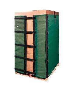 6' Reusable Pallet Wrap Cover, Heavy Duty w/ Corner Pallet Straps