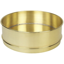 """12"""" Brass Sieve Pan, 2"""" Height (Full) with Extended Rim"""