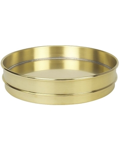 """12"""" Brass Sieve Pan, 1"""" Height (Half) with Extended Rim"""