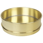 """8"""" Brass Sieve Pan, 2"""" Height (Full) with Extended Rim"""