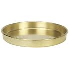 "8"" Brass Sieve Pan, 1"" Height (Half)"