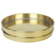 """8"""" Brass Sieve Pan, 1"""" Height (Half) with Extended Rim"""