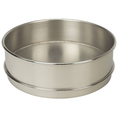 """8"""" Stainless Steel Sieve Pan, 2"""" Height (Full) with Extended Rim"""