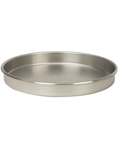 "8"" Stainless Steel Sieve Pan, 1"" Height (Half)"