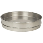 """12"""" Stainless Steel Sieve Pan, 1"""" Height (Half) with Extended Rim"""