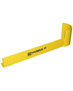"48"" Yellow Medium-Duty Right Hand End Aisle Rack Guard"