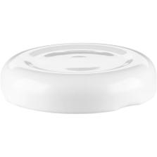 38mm 38-2000 White Button Metal Lug Cap w/ Plastisol Liner