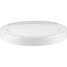 70mm 70-2030 White Metal Lug Cap w/ Plastisol Liner