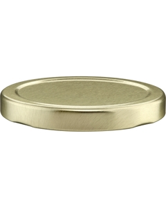 70mm 70-2030 Gold Metal Lug Cap w/ Plastisol Liner